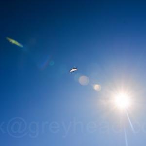 Paraglider in Exmouth, Devon, UK