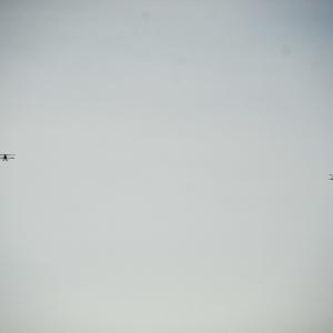 Bi-planes at an airshow in Catalunya, Spain