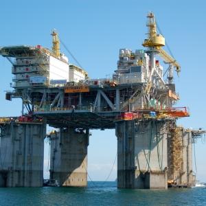 Petrobras oil rig near Ilha Grande, Brazil